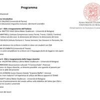 Locandina convegno DISPEL (programma)